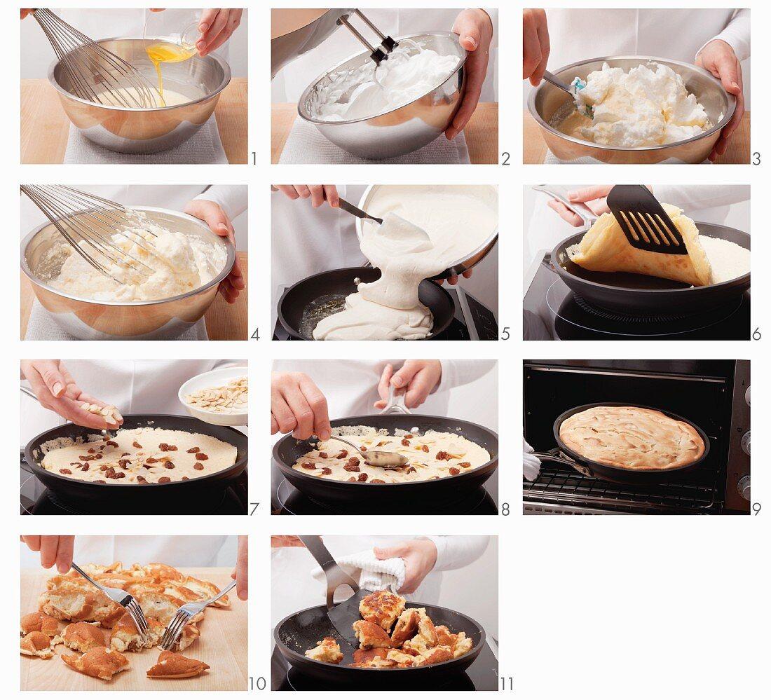 Making Kaiserschmarren (Emperor's pancake)