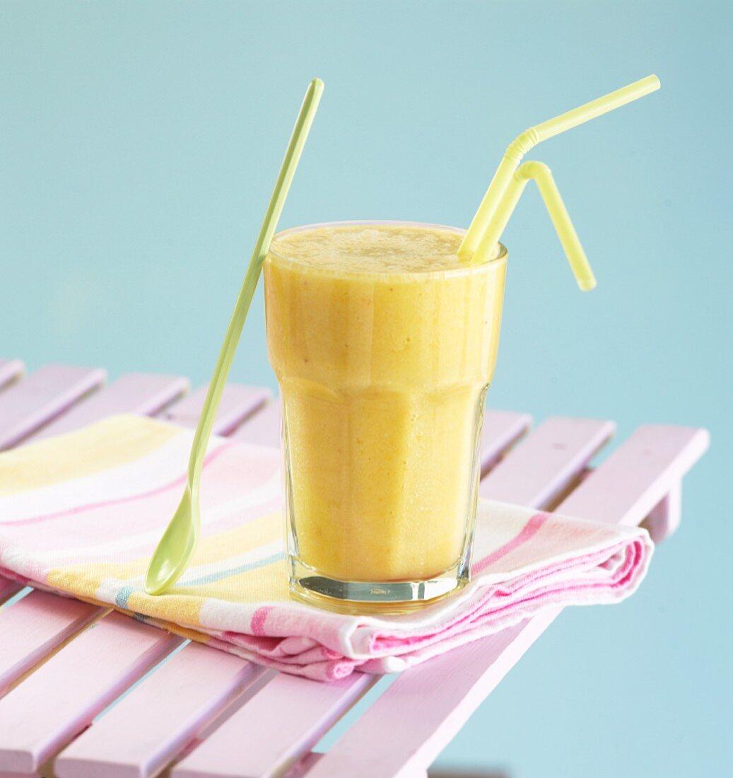 Mango and banana milkshake