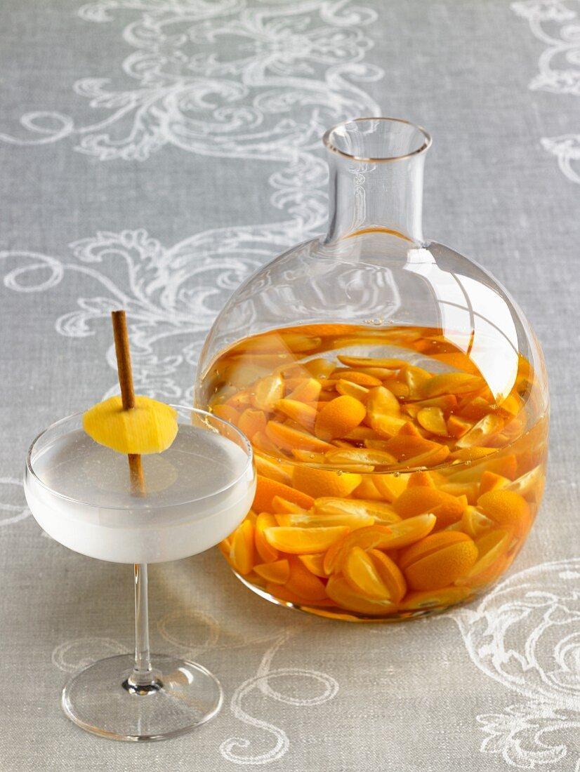 Kumquat Nastoyka (Kumquats in Wodka) und ein Timber Cove Cocktail