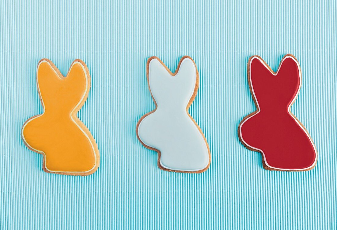 Easter Bunny-shaped biscuits