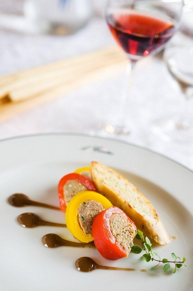 Pepeperone al tonno (chilli pepper rolls filled with tuna farce)