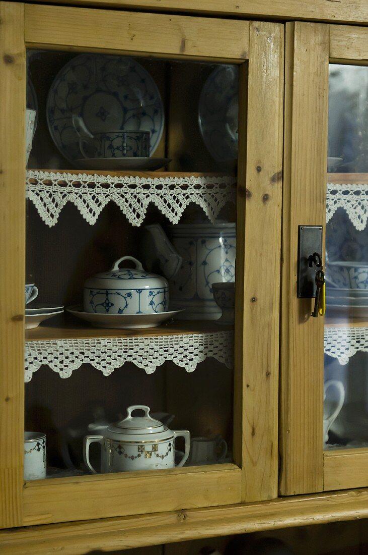 An old crockery cupboard