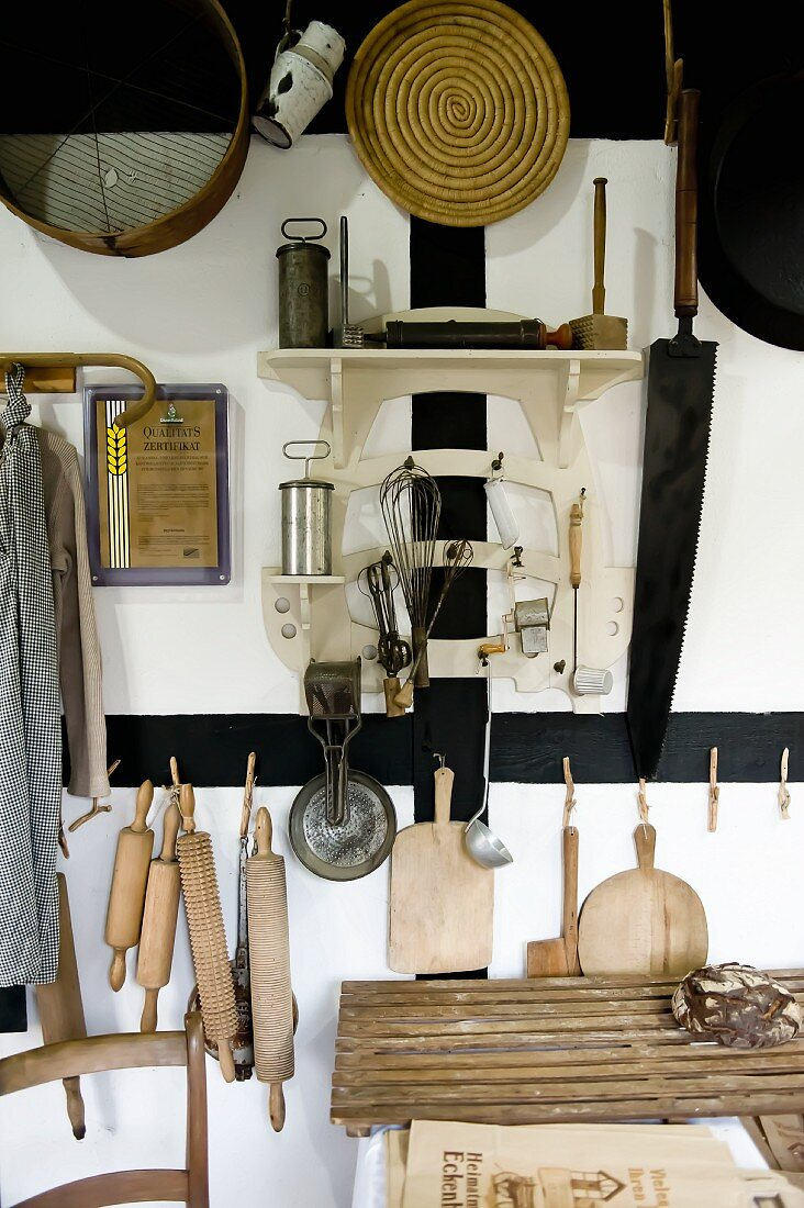 Utensils in a old bakery