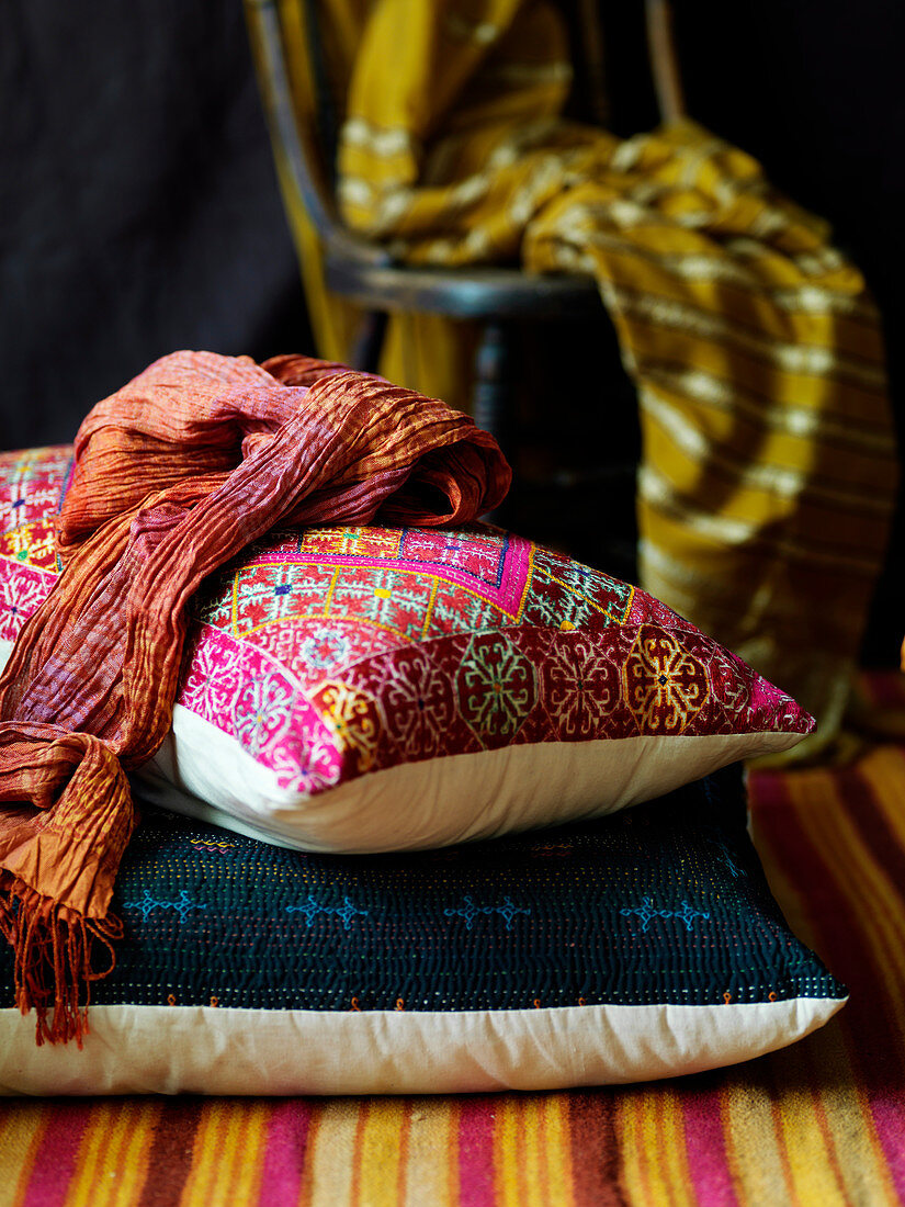 Decorative Indian cushions