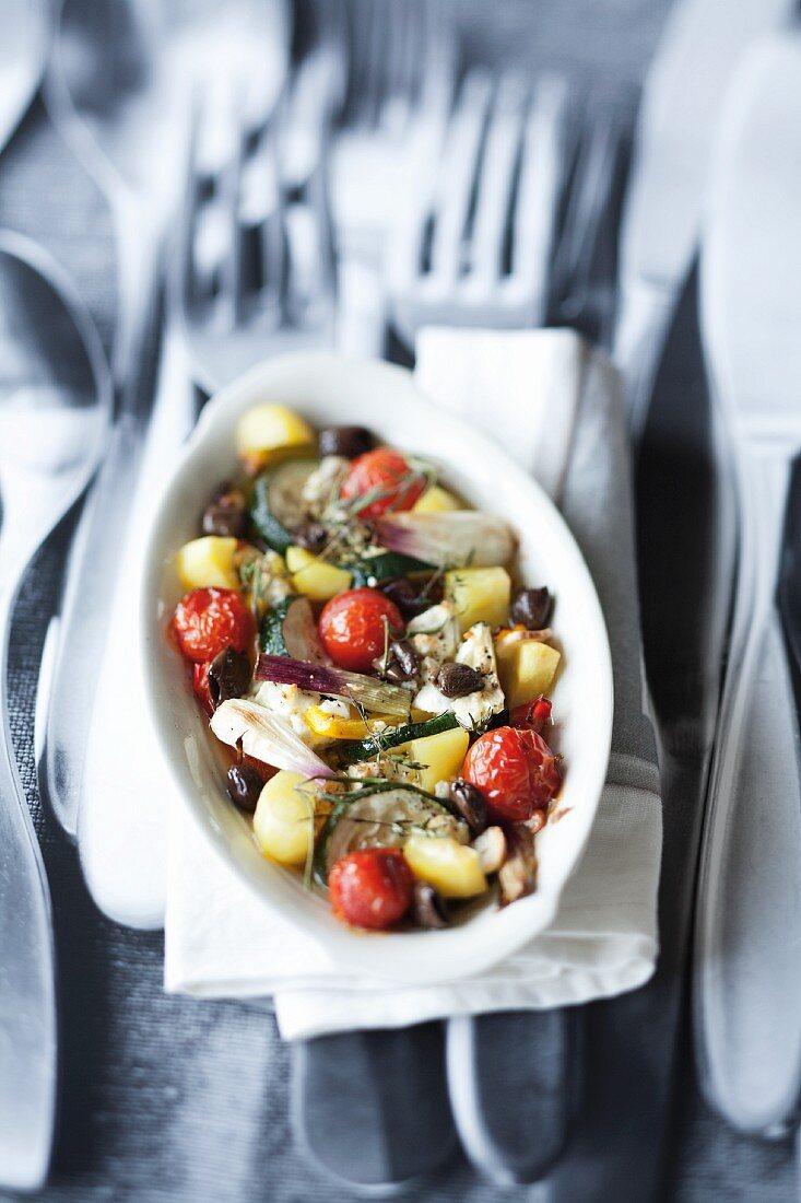 Oven-baked Mediterranean vegetables