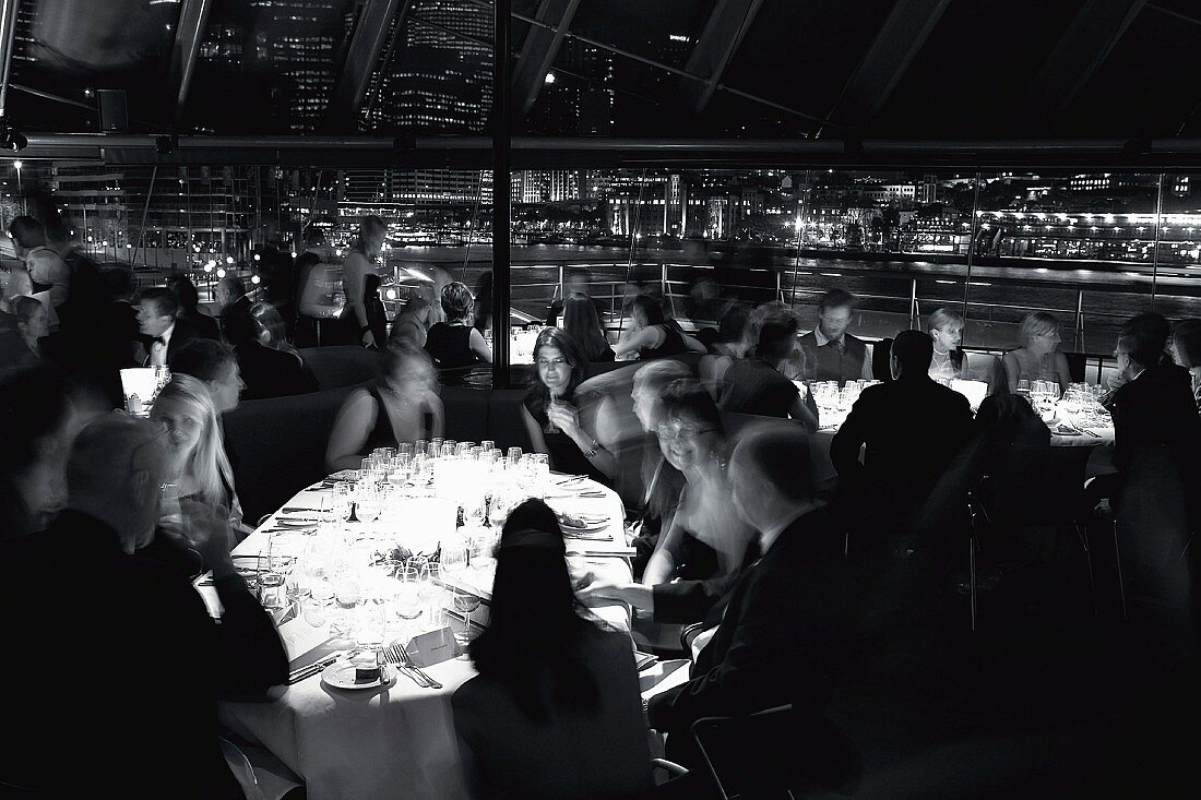 The restaurant in the Sydney Opera House