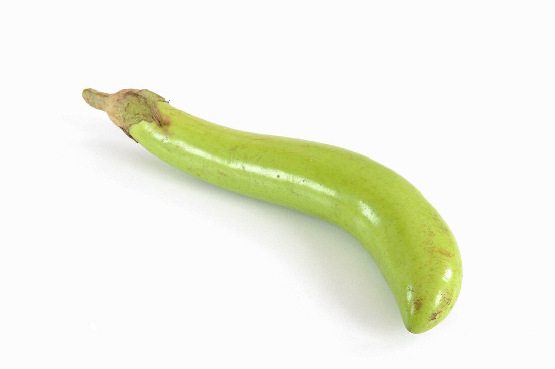 A green aubergine