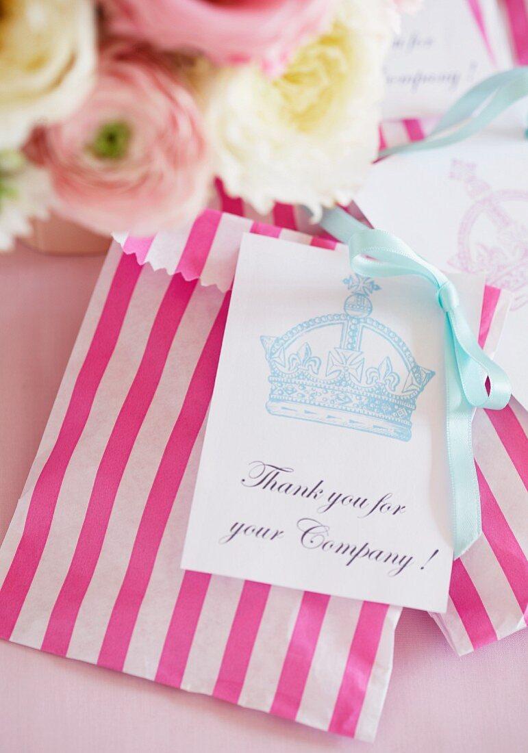 A thank you gift (England)
