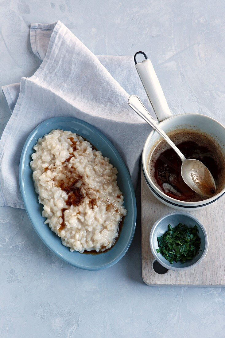 Rice with fontina and brown butter
