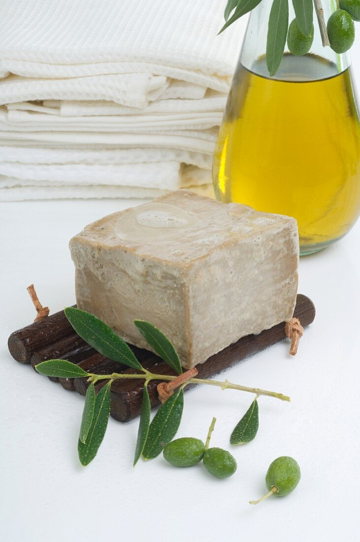 Olive oil and olive soap