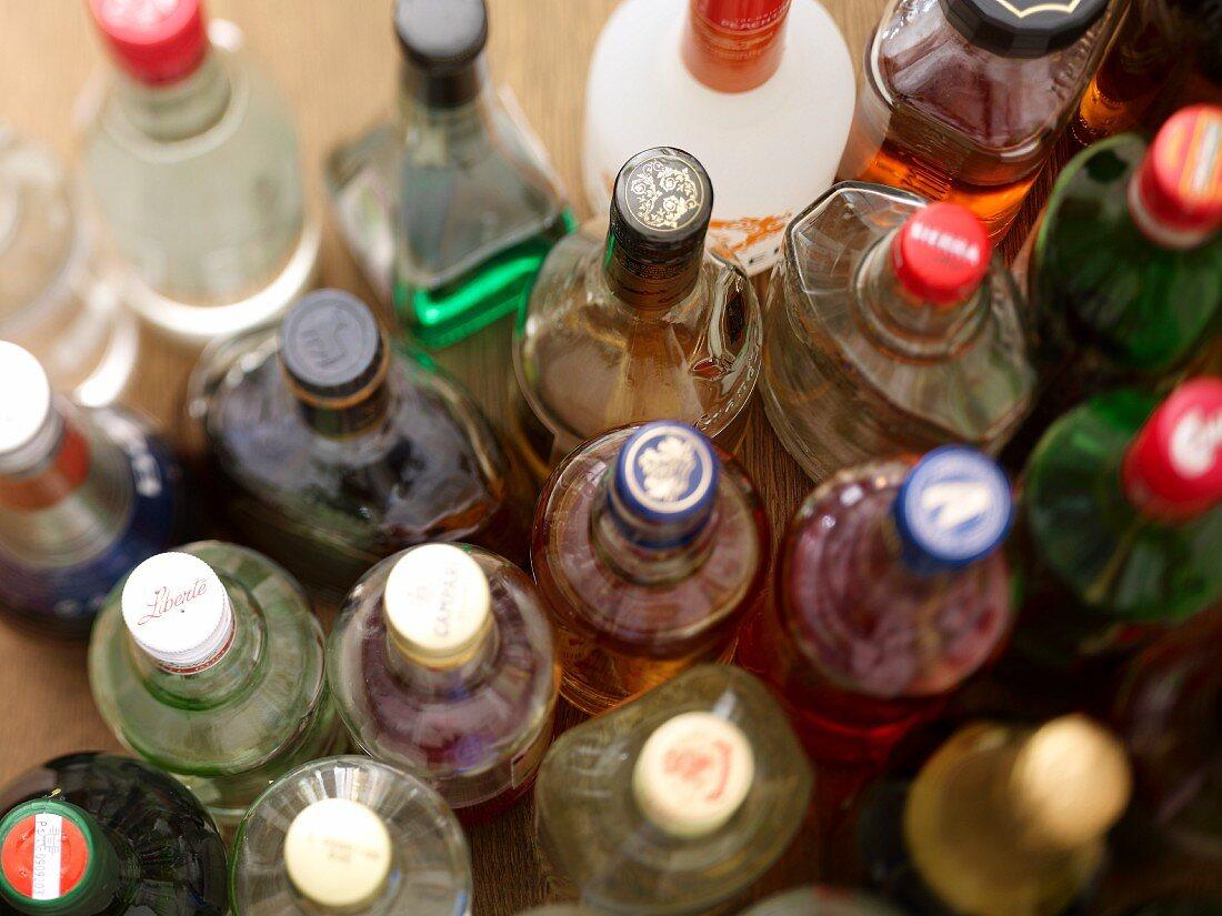Schnapps bottles