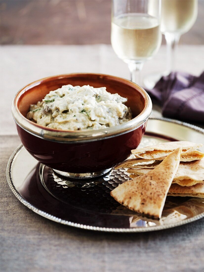 Baba Ganoush (aubergine dip from the Middle East)