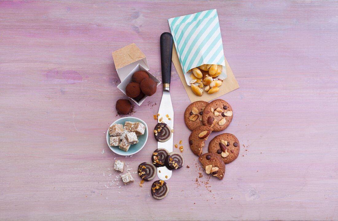 Various homemade sweets as a gift