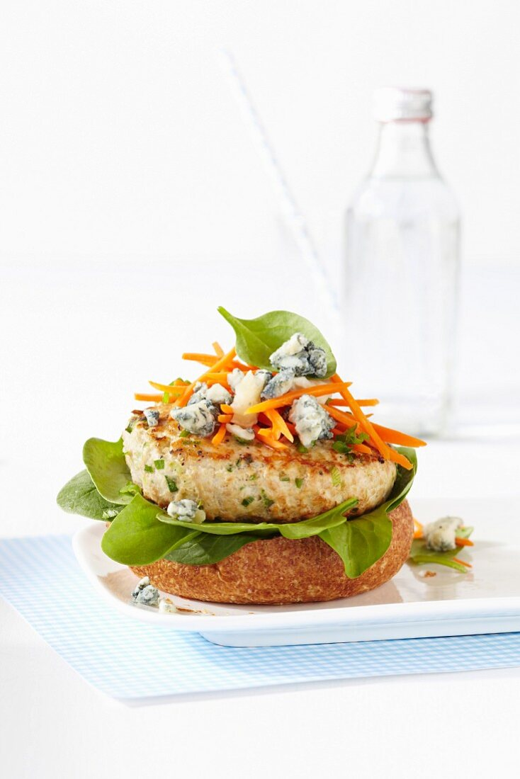 A Buffalo Chicken Burger With Blue License Images 11420910 Stockfood