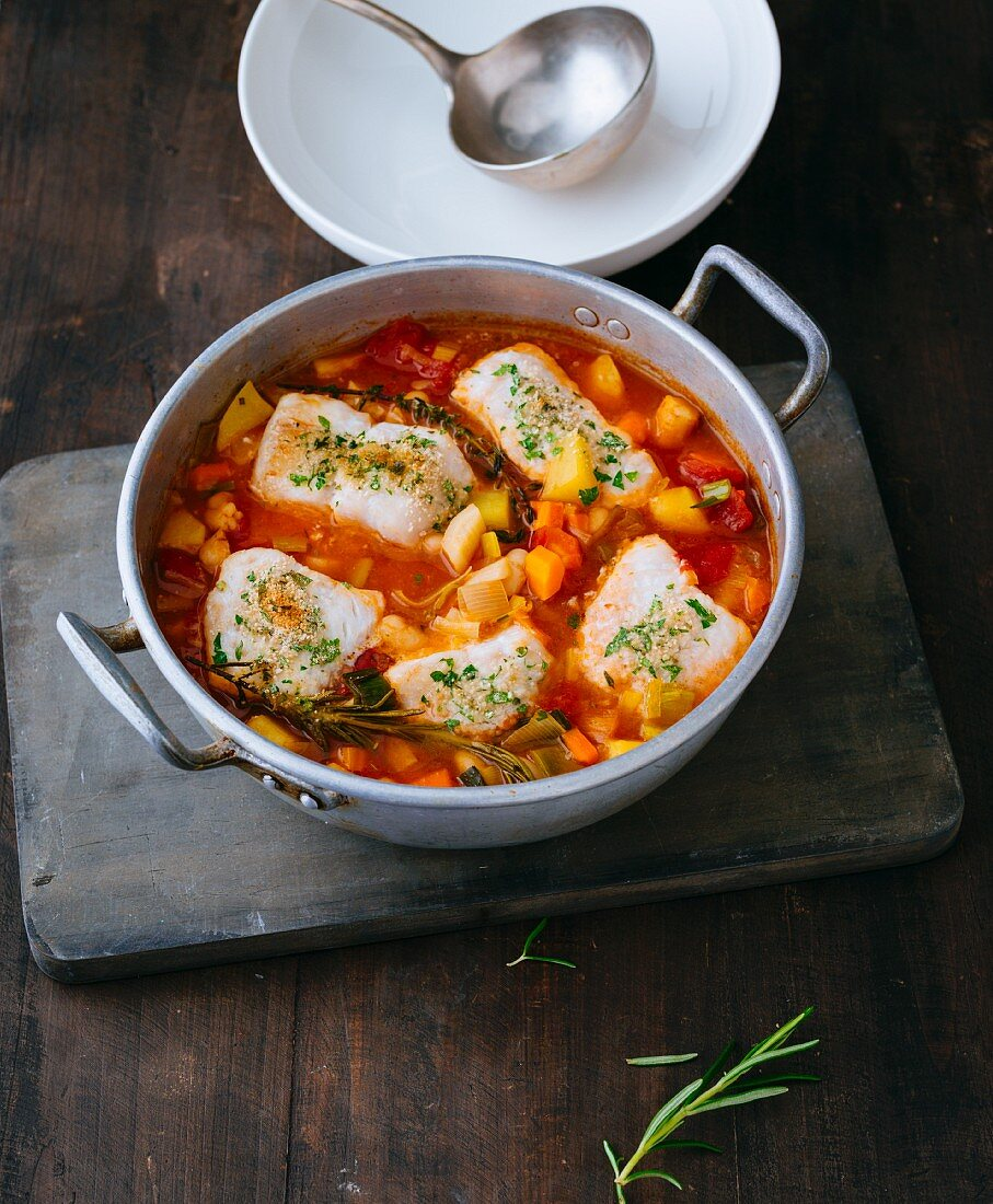 French cassoulet with rosefish