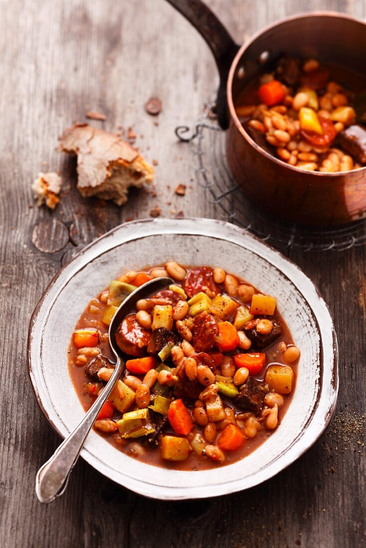 Serbian bean soup