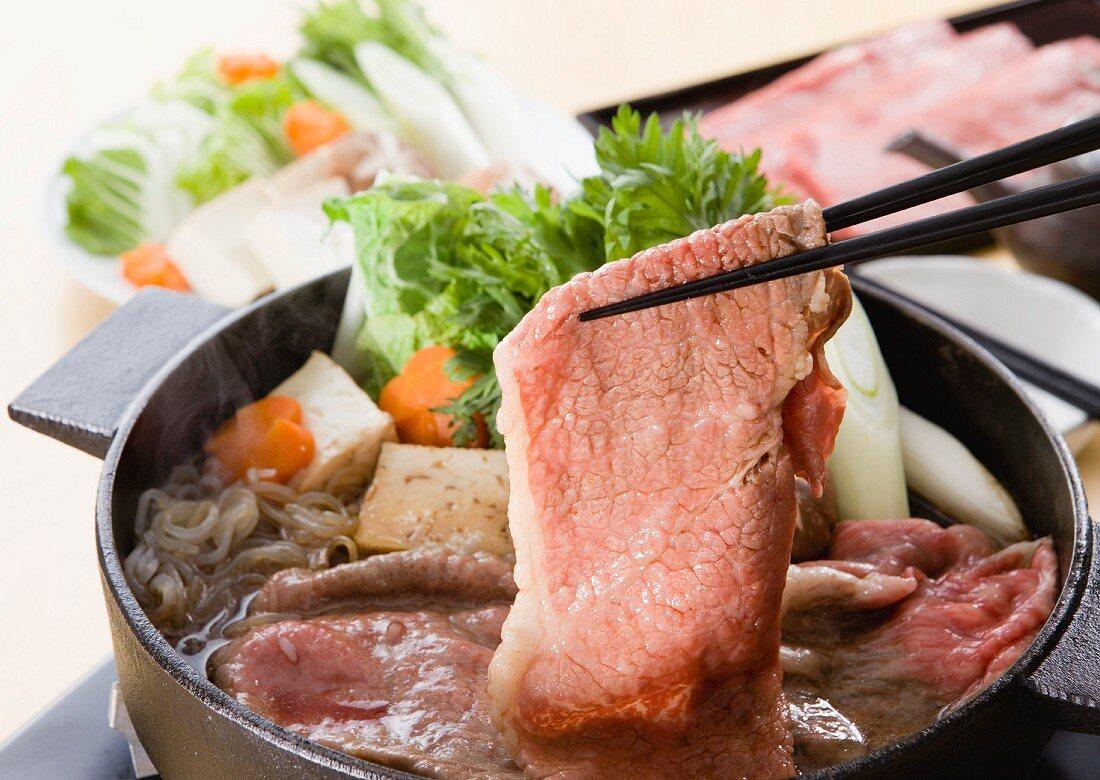 Sukiyaki (Japanese stew)