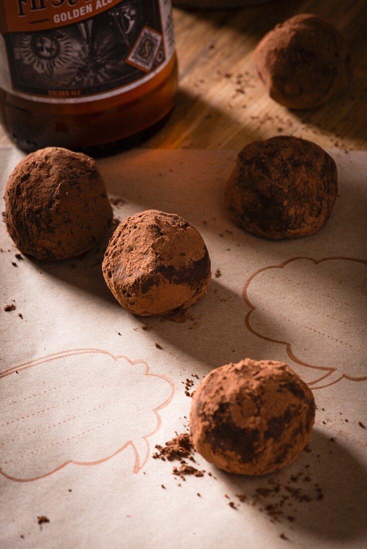 Bourbon chocolate truffles