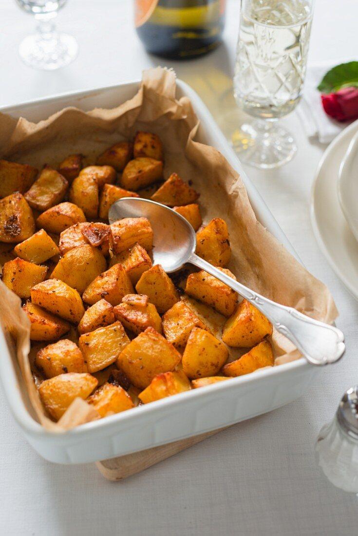 Roast potatoes as a side dish