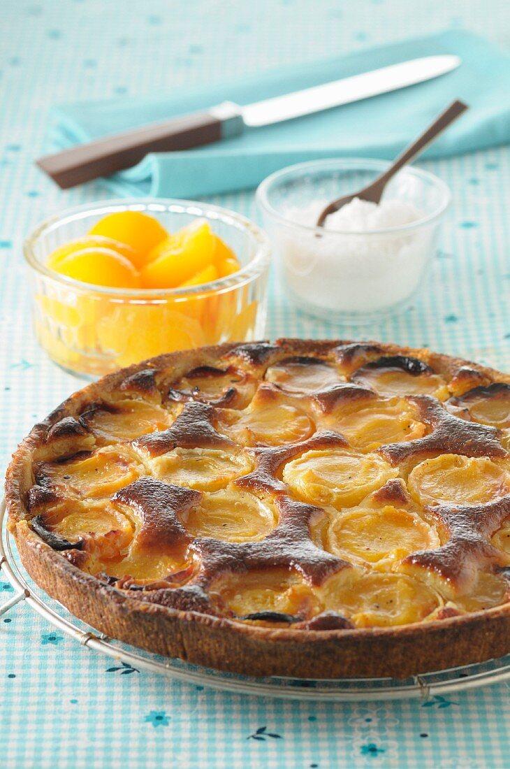 Normandy apricot tart