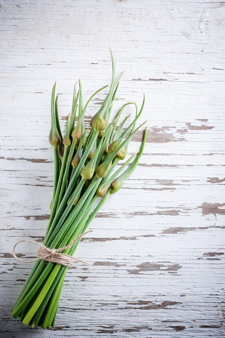 A bundle of serpent garlic
