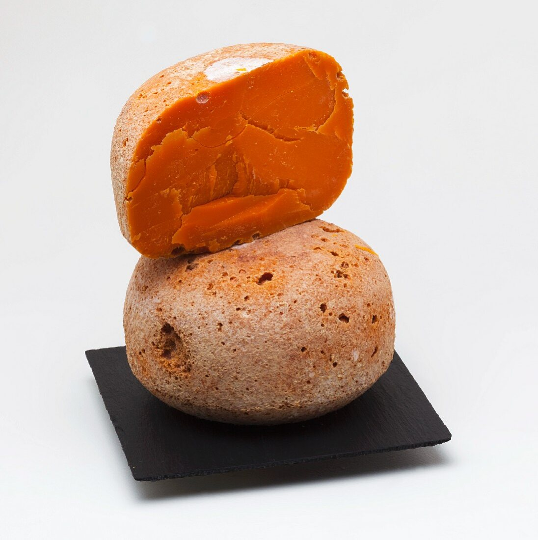 Mimolette (round hard cheese from France)