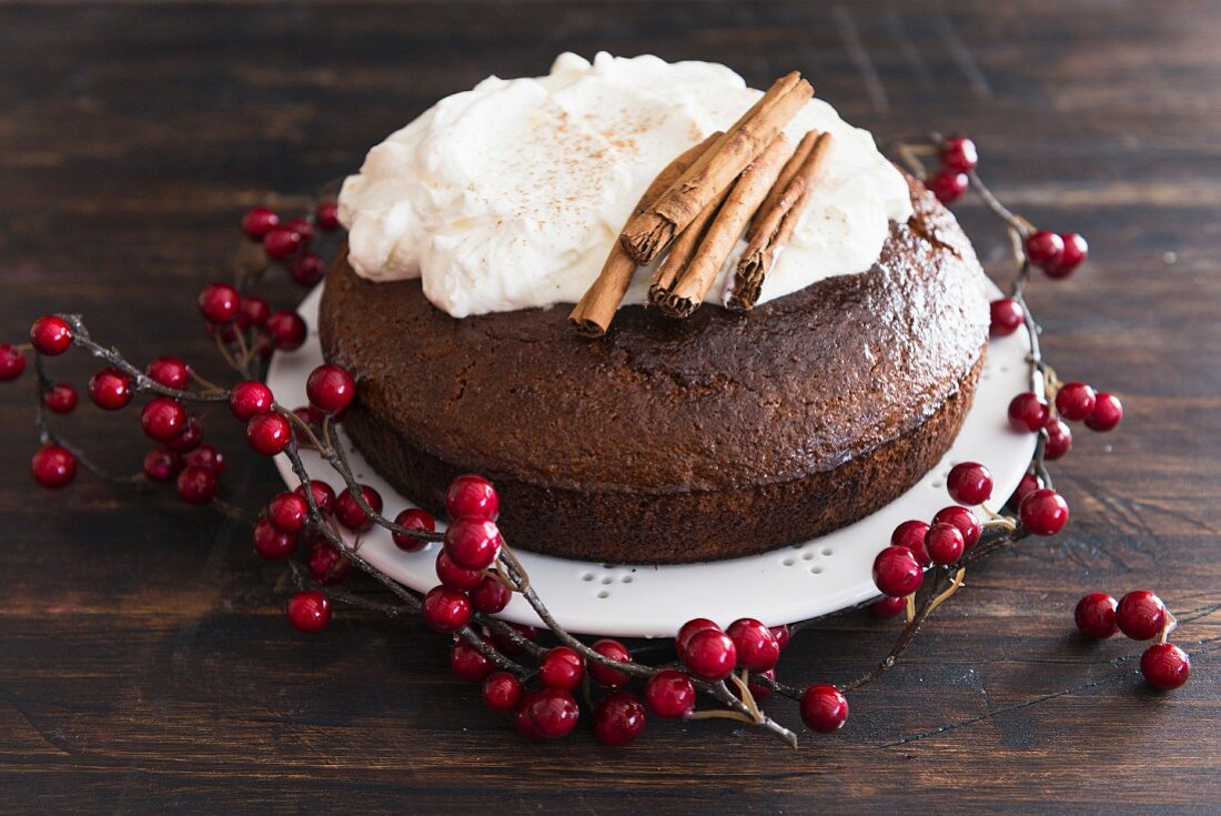 Gingerbread cake for Christmas
