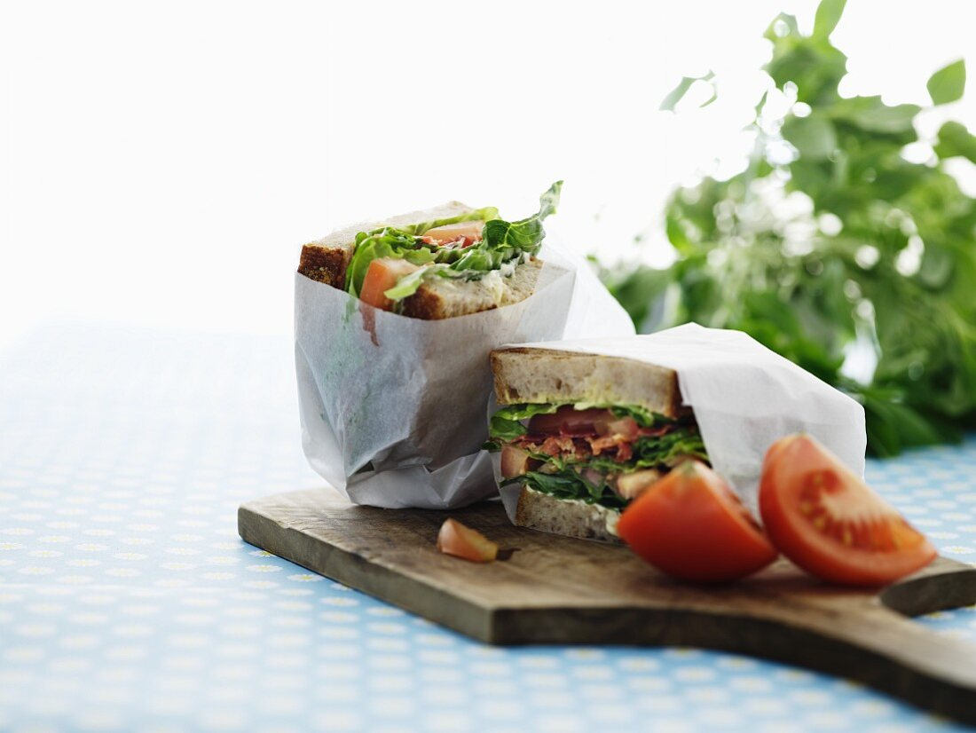 Packaged sandwiches