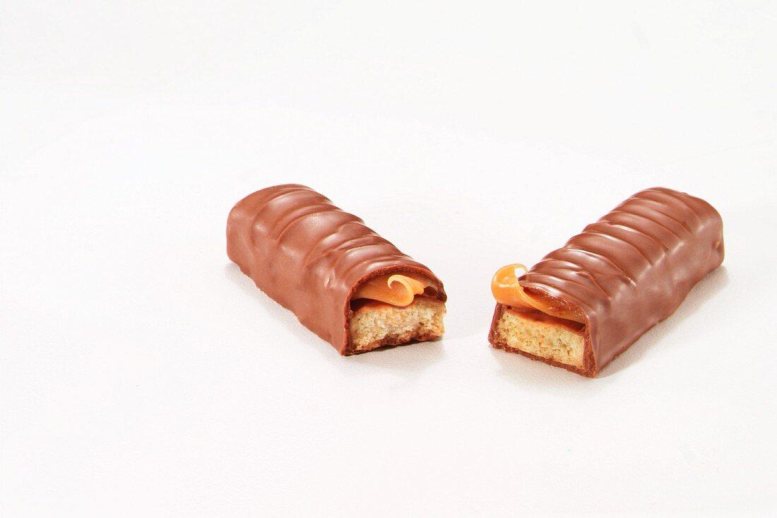 A broken chocolate bar