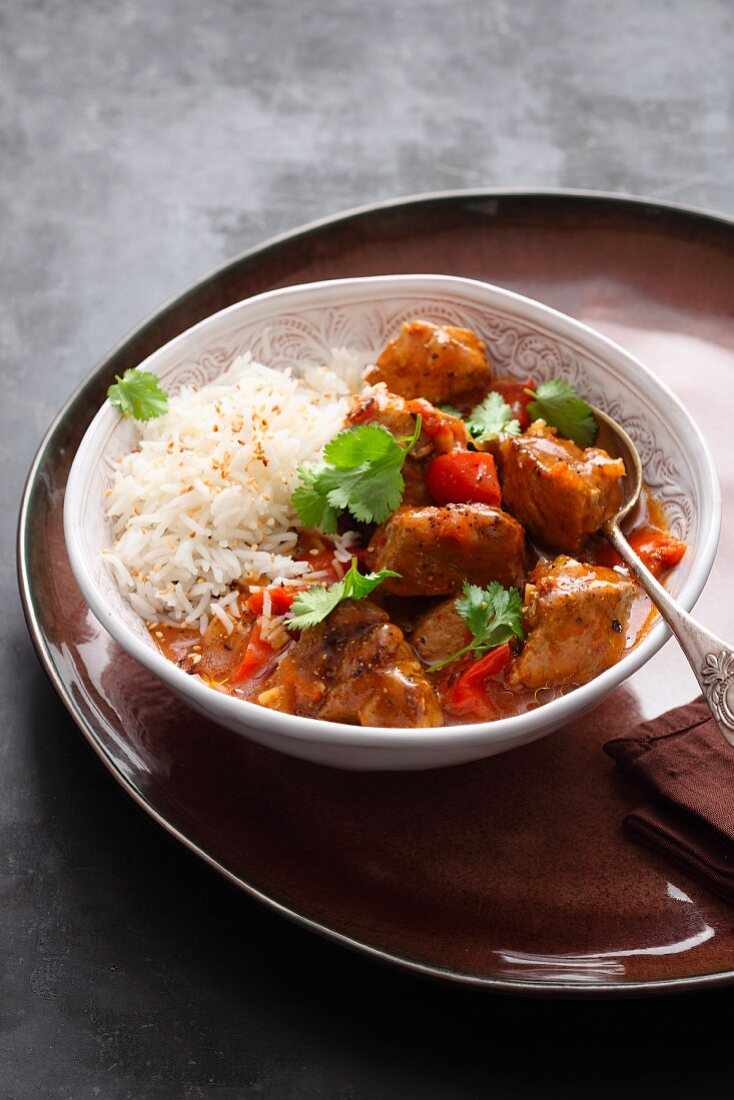 Indian vindaloo with pork