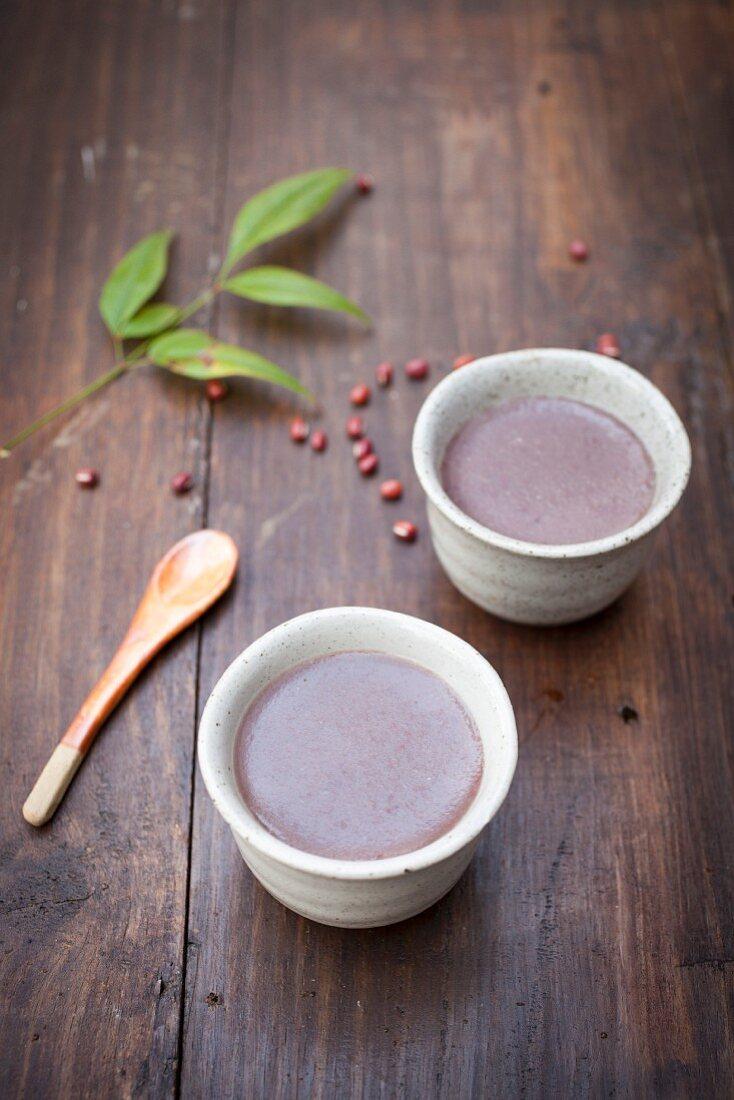 Azuki pudding from Japan