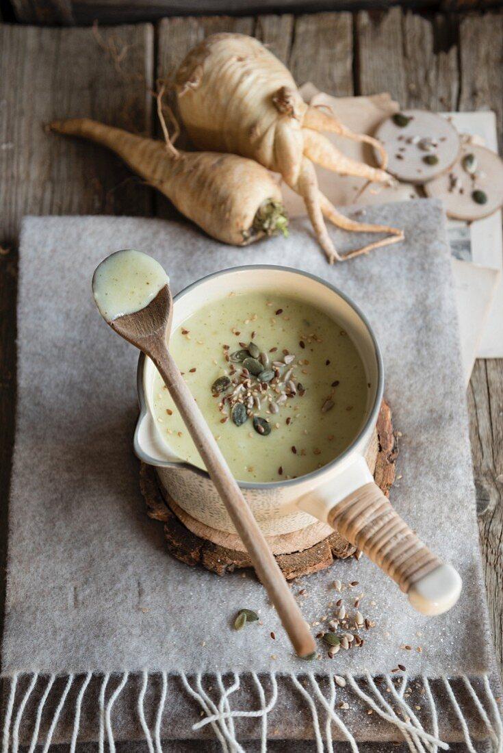 Bowl of Apple Parsnip Soup