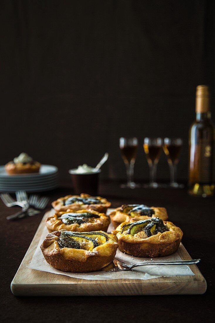 Handmade fig tarts