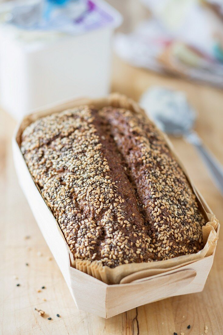 Homemade low-carb bread