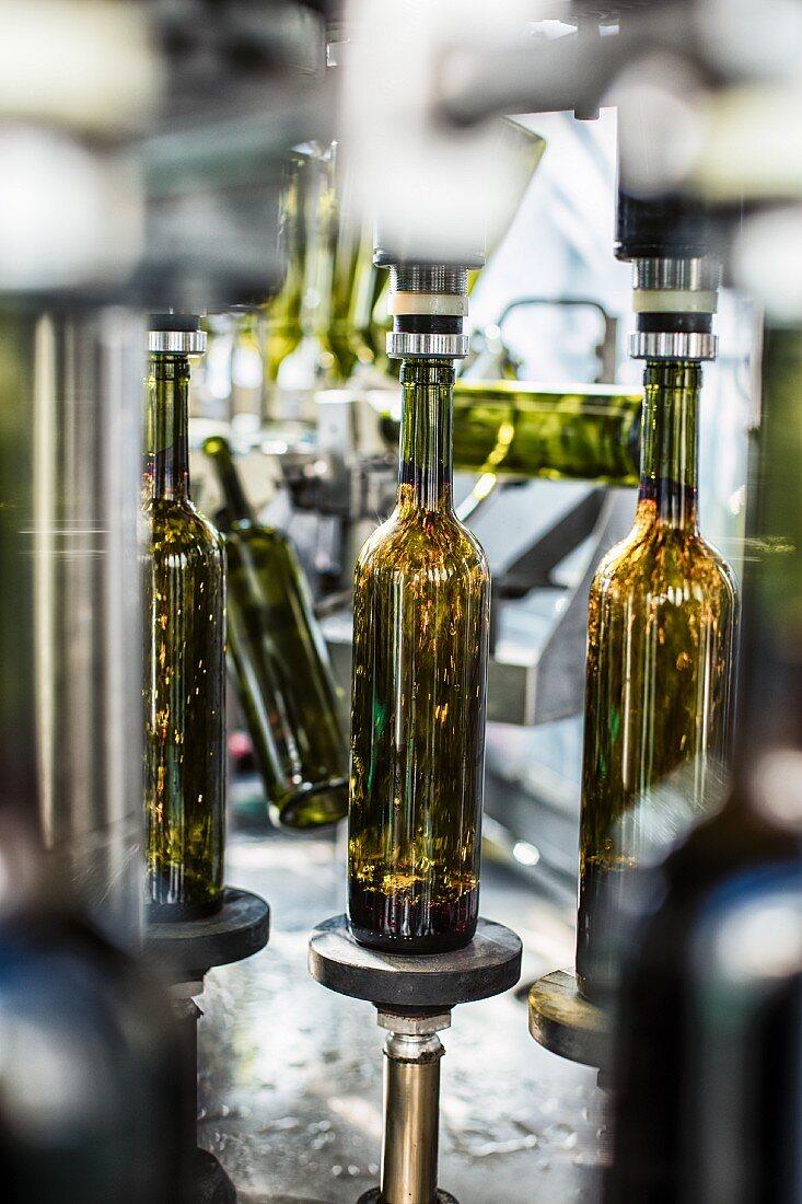 A wine bottling plant