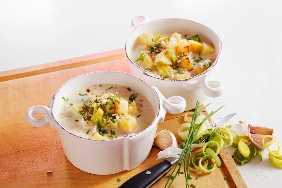 Irish leek and potato soup