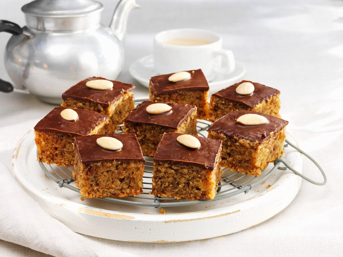Almond cake served with coffe