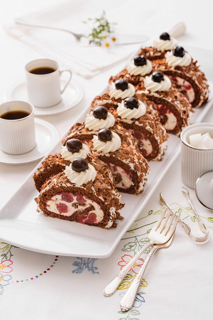 Black Forest Cherry roulade