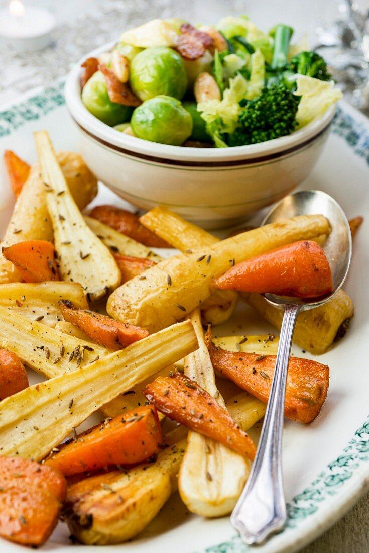 Festive vegetable side dishes (Christmas)