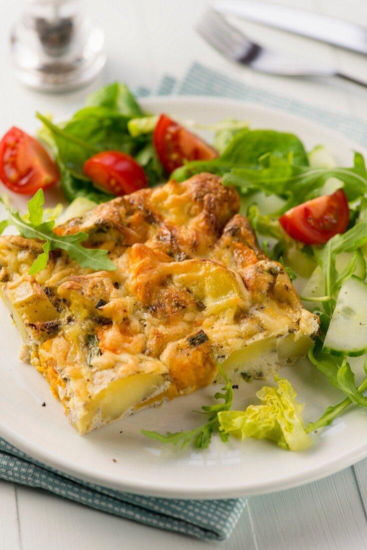 Frittata mit zwei Kartoffelsorten