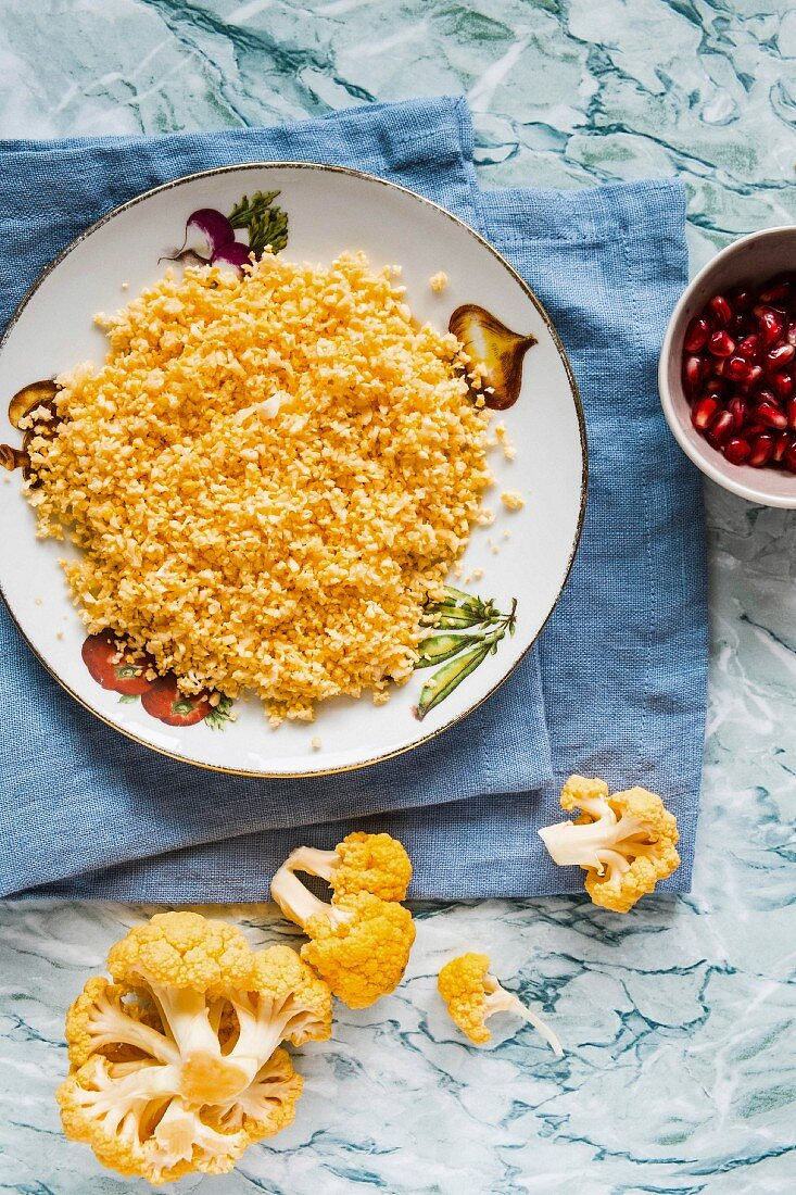 Yellow cauliflower couscous