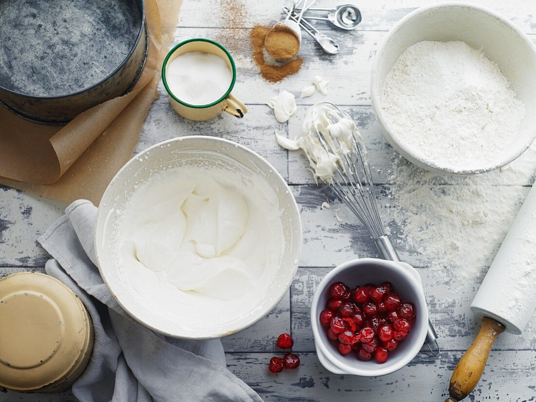 Ingredients for cherry pie