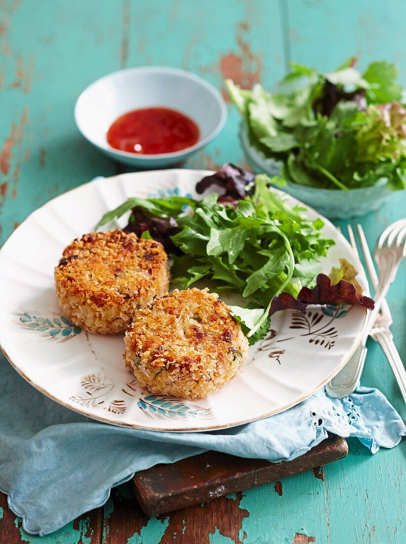 Crispy Thai curry tuna cakes