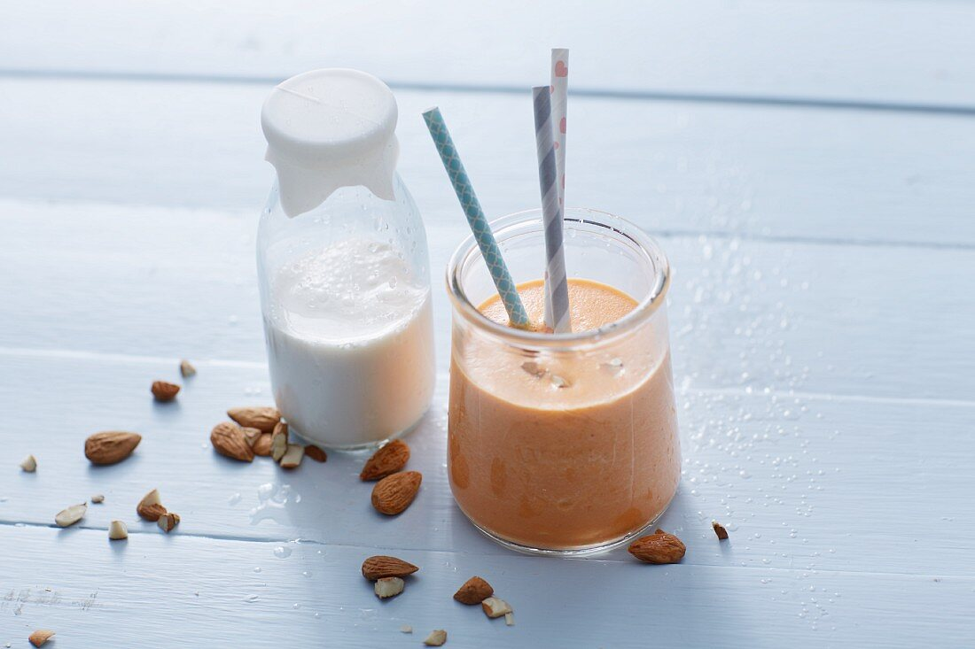 A sweet potato and almond smoothie