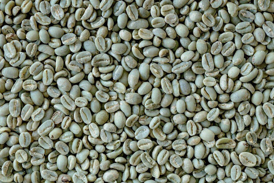 Green coffee beans (full frame)