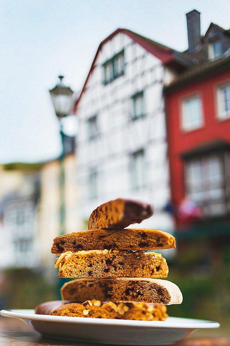 Günter Portz Printen (German Christmas biscuits) at the Printenhaus, Eifel, Germany
