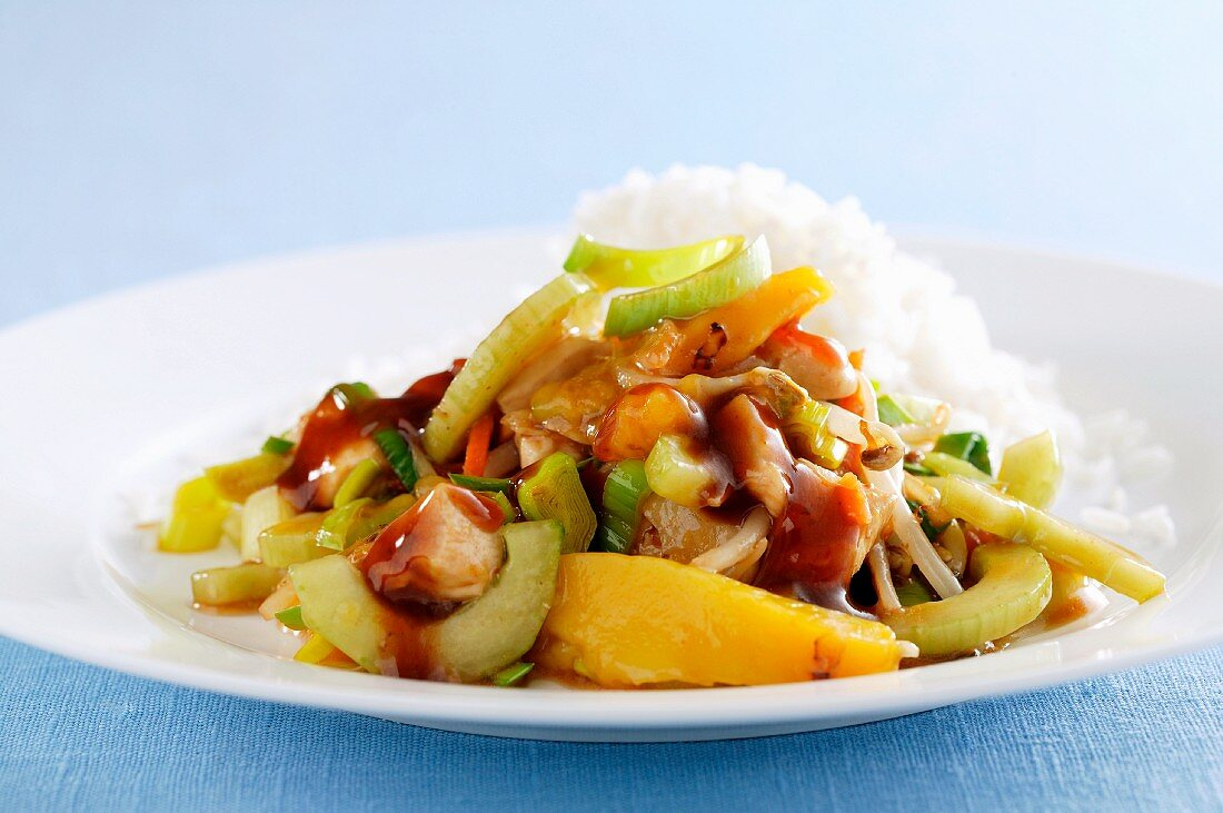 Rice with mixed vegetables (Asia)