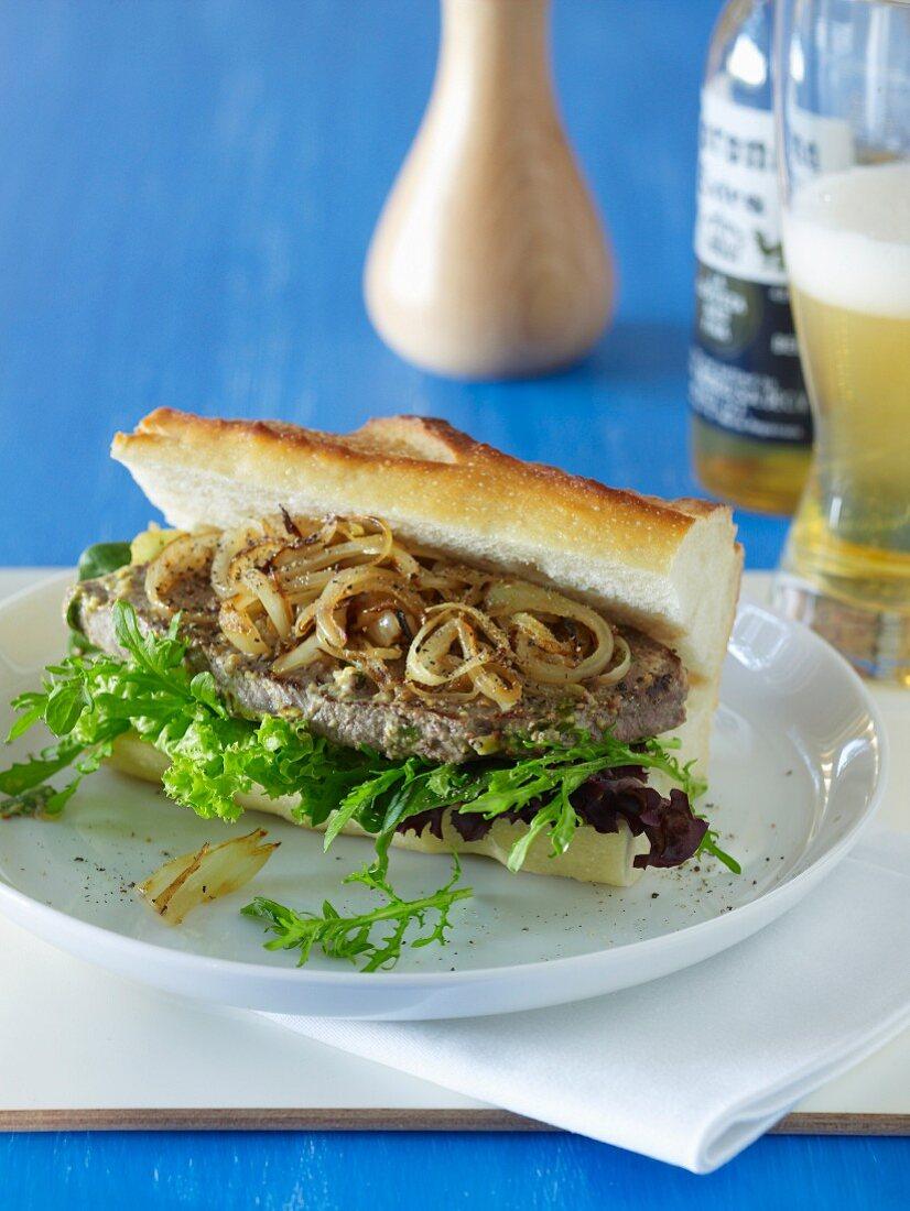Barbecue Special - Tarragon & Mustard Steak Sandwiches
