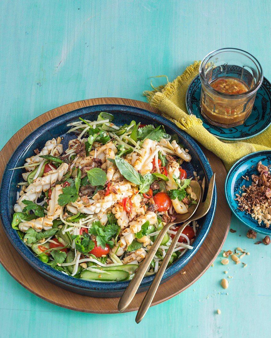Green Mango and Squid Salad