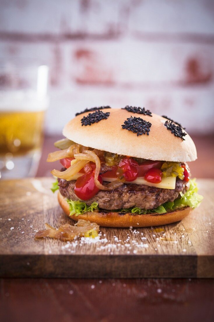 Soccer cheese burger